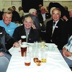 Left to right: Dennis Winch, Peter 'Podger' Fox, Bob Winch, Ivor Webb, Clifford Hill. | Geoff Webb