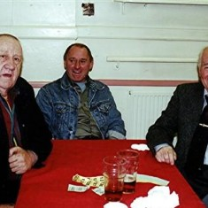 Doug Robinson (left) with his son, and Brian Males  Doug and Brian were old friends from Lamb Lane, Redbourn. | Geoff Webb