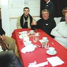 Left to right: David Axtell, Dennis Sibley, John Boden's son, John Boden, George Reading, Roy Woods. | Geoff Webb