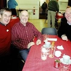 Left to right: Brian Halsey, Walter Rough, John Smith | Geoff Webb