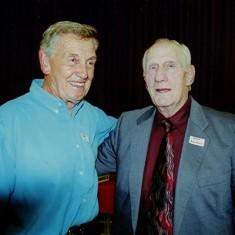 Peter 'Podger' Fox (left) and Dick Dalton | Geoff Webb
