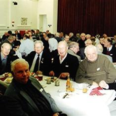 (Left to right): Cyril Field, Bob Orchard, Barrie Millington (front), Ron Dunham, John Catlin, Arthur Winch, Alan Waller   Geoff Webb