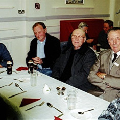 (Left to right): Tony and Cliff Cootes, Ken Hedges, Mick Halsey, Reg Stevens | Geoff Webb