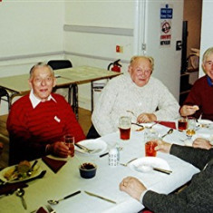 (Left to right): Peter Flitton, Darley Webb, George Reading, Roy Woods, John Boden (front), David Axtell | Geoff Webb