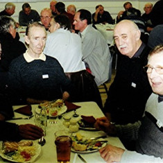(Left to right): Mick Smith, George King, Mick Maguire, Jim Burrows | Geoff Webb