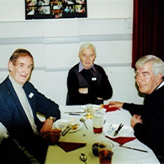 (Left to right): John Bower (rear), Jim Burrows, Ted Benn, 'Lucky' King, Terry O'Dell, Bob Benn   Geoff Webb