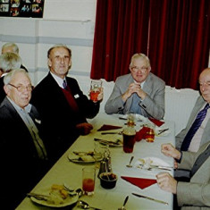 (Left to right): Trevor Coleman, Maurice Webb, Bob Benn, John Bartlett, Fred Arnold, Mick Chatfield   Geoff Webb