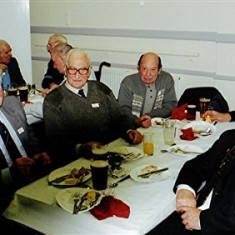 (Left to right): Geoff and 'Snowy' Nunn, Ken Marshall, Keith Bissell, Ivor Webb (front), Tom Belshaw | Geoff Webb