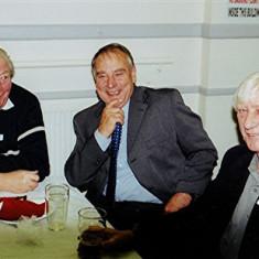 Dennis Flitton (left), Ellis Webb (centre) and Alan Paynter   Geoff Webb