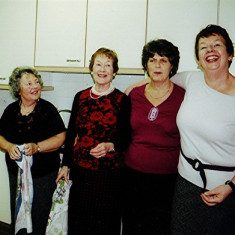 (Left to right): Mo Fox, Yvonne Sibley, June Fox and Irene Benn | Geoff Webb