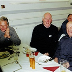 (Left to right): Terry Peck, Trevor Hucklesby, John Smith, Walter Rough, Brian Halsey | Geoff Webb