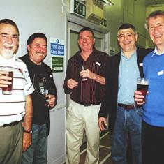 (Left to right): Paul Wilson, Neil Walters, Alan Morton Jnr., David Peacock, Jim Mimer | Geoff Webb