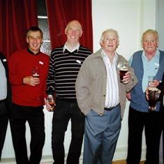 (Left to right): Donald Braddon, Brian Halsey, John Smith, Pat O'Connor, Jim 'Jippy' O'Hara, Mick O'Hara | Geoff Webb
