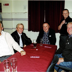 (Left to right) David Axtell (standing), Trevor Hucklesby, Malcolm Dew, Melvyn Fox, Graham Pryke, Terry Peck | Geoff Webb
