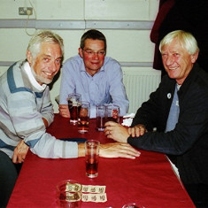 (Left to right): David Paynter, John Fisher, Alan Paynter | Geoff Webb