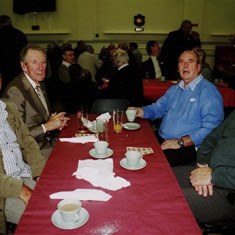 (Left to right): Peter Ryan, Mick Halsey, Dennis Bigham, Ken Hedges | Geoff Webb