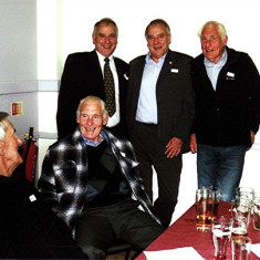 (Left to right): John Groves, Ron Henry, Ellis and Ivor Webb, Vic Henry | Geoff Webb