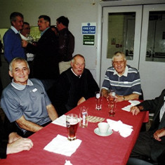 (Left to right): Mick Miles, Trevor Coleman, Melvyn Austin, Jeff Coot, Tony Dickinson. Standing at the rear (left to right): Jim Mimer, Paul Wilson, David Peacock, Alan Morton Jnr | Geoff Webb