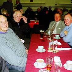(Left to right): David Axtell, Mick Day, Donald Friar, John Bower | Geoff Webb