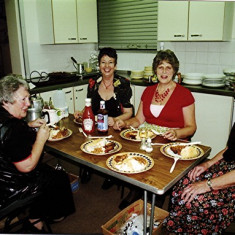 (Left to right): 'Mo' Fox, Irene Benn, June Fox and Lily Cowland | Geoff Webb
