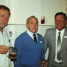 Left to right: Brian Cowland, Maurice Webb and Roy Fox. | Geoff Webb