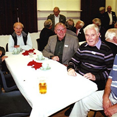 (Left to right): Cyril Field, Bob Orchard, Mick Chatfield, 'Lucky' King, Jeff Coote | Geoff Webb