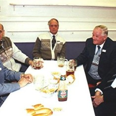 Left to right: Eric Neville, George Brett, Charlie Brown, George Allen and Horace Brett. | Geoff Webb