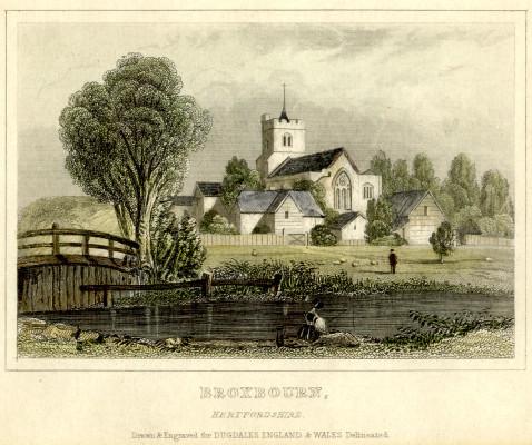 Broxbournre Parish Church | drawn for Dugdales, England & Wales