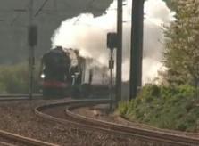 Tornado Steam Locomotive at Welham Green 2009