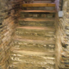 The stairs from the cellar