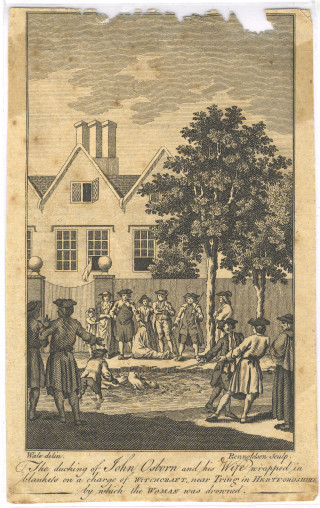 'Witch swimming' Tring, 1751 | Hertfordshire Archives & Local Studies Ref: CV/Tring/12