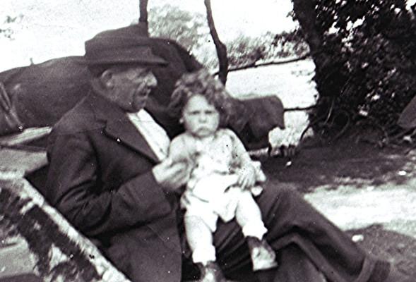 Charlie Lee with John Jnr   Geoff Webb