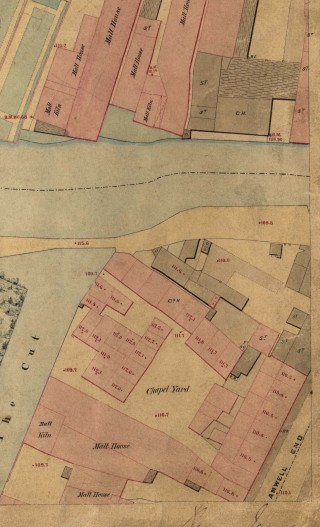 Chapel Yard on a map of 1851 | Hertfordshire Archives & Local Studies