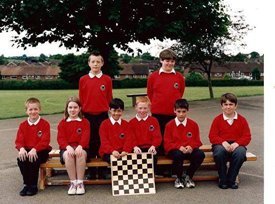 Junior School Chess Team   Geoff Webb