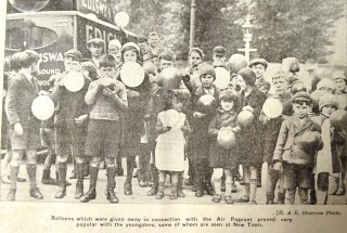 Children with their balloons | Herts and Essex Observer May 1933, page 10