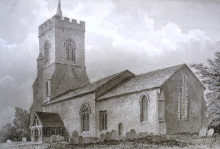 St Ceclia's church, Little Hadham, 1832 | Hertfordshire Archives & Local Studies ref D/EBg/2