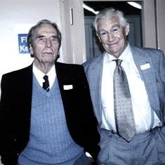 Alan Clark (left) and John Dunckley.   Geoff Webb