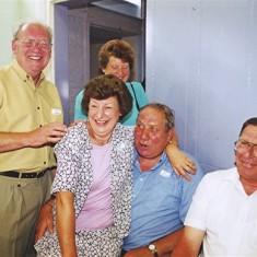 Left to right: Vic Clarke, Doreen Fox (rear), Audrey Fox, Roy Flitton, Roy Fox | Geoff Webb