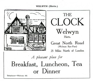 Advert that appeared in RAC guide for 1930