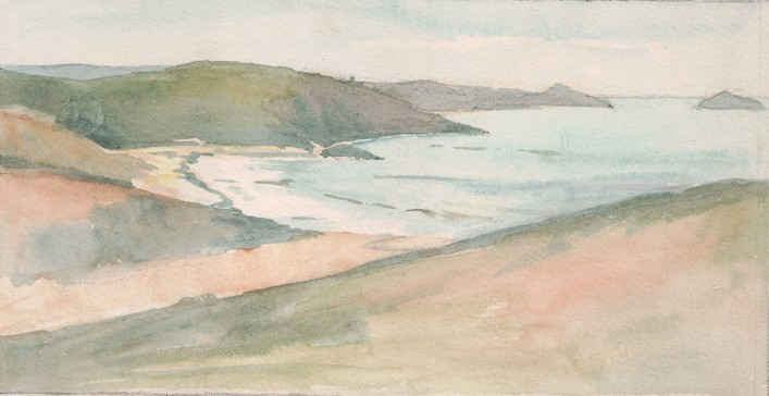 A coastal scene - location unknown, not signed or dated | Miss Mabel Culley