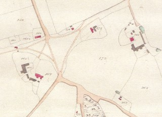 Part of Hertingfordbury Tithe Map showing the Stewards House No 162 | Hertfordshire Archives