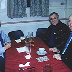 Derek Fellowes (left), Trevor Coleman (centre) and Brian Males   Geoff Webb
