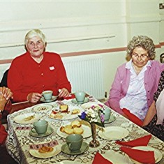 Left to right: Mildred Cook, Peg Field, Evelyn and Eileen Austin. | Geoff Webb
