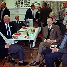 Left to right:  Bill Gurney, Bill Tibbs, Arthur Pease, Doug Austin (rear), 'Maz' Gurney, John Marshall (rear), Derek Fellowes | Geoff Webb
