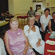 Left to right: Sheila Hales, Rosemary Stevens, Christine Coote, Lily Bird, Jennifer Brett, Doreen and Sybil Bird. | Geoff Webb