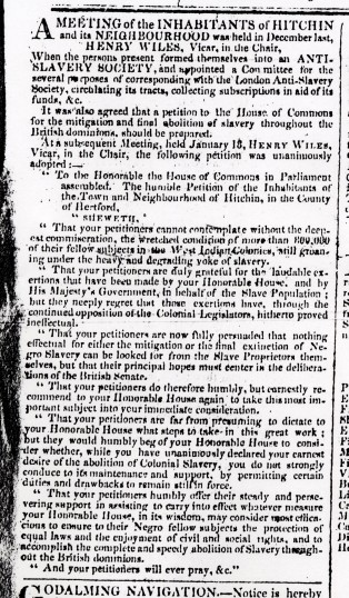 The County Chronicle (24 Jan 1826, p1) | Hertfordshire Archives & Local Studies