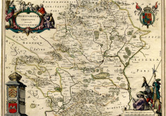 An old map of Hertfordshire