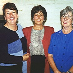 Left to right: Irene Benn, June Fox and Lily Cowland | Geoff Webb