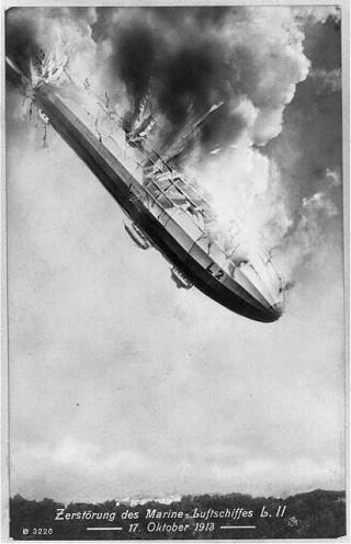 LZ 18 crashing in 1913 | Wikipedia via Creative Commons