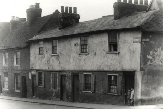 The top of Crib Street and The Bourne in 1936